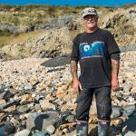 Our fossil hunting guide, Paddy