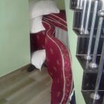 Stairway stacked with mattress/pillows
