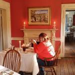 wife enjoying the meal