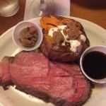 Prime rib with sweet potato