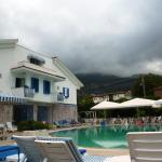 Hotel pool and annexe rooms