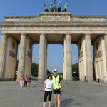 Mike & ich beim SightRunning am Brandenburger Tor
