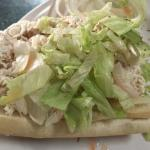 Chicken salad hoagie