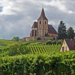 Church in the vineyards of Hunawihr