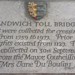 Toll Bridge Plaque