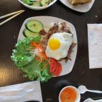 Pork with rice with egg
