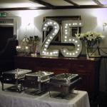 Function room ready for the party.