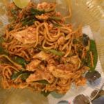 Mee goreng with chicken