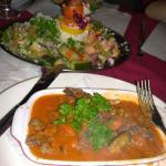 stuffed eggplant apetiser and special Turkish salad.