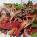 Spicy beef salad, can be orded as not spicy to. Lovely salad!!!!