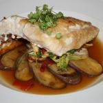 5-Spice Miso Snapper with Japanese Eggplant