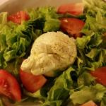 Salad with fresh mozzarella