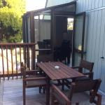 Balcony with door from dining & bedroom