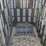 Center courtyard area of hotel.