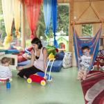 Babypavillon und Krabbelraum