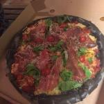 Black pizza (nera) with parma ham. Loved it!