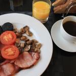 Scottish Breakfast, orange juice and coffee
