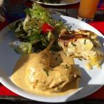 Menu du jour : poulet a la crème et gratin dauphinois
