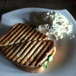 Chicken Florentine Panini with potato salad