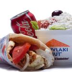 Chicken Souvlaki With Salad & Pop