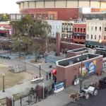 This is a shot from Rm: 525 Balcony overlooking the Park and Beale St.