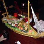 Sushi Boat at Dotombori