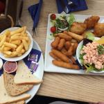 Fish platter definitely to share plus chips cos we are on holiday