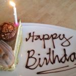 Green tea cake (freebie for our birthday boy 😜)