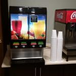 Soft drinks and juice in the breakfast area