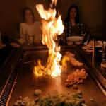 Hibachi grill - flaming Onion volcano!