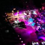 Birds eye view of the stage from Level 4 Suite. Don't buy a seat here.