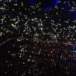 A sea of waving lights from smart phones during one of the numbers. Awesome.