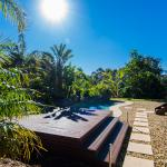 Dive in to the solar heated pool