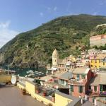 the view of Vernazza from Room 19