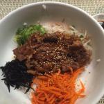Beef bibimap. $1 per sushi