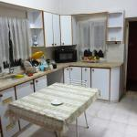 The well-equipped communal kitchen