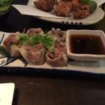 Smoked garlic & beef dumplings