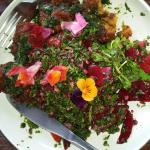 Pumpkin Falafel w Parsley & Quinoa Tabouli & Pickled Beetroot Salad