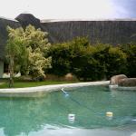The swimmingpool at the Lodge