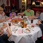 Enjoying our family dinner at Zen City.