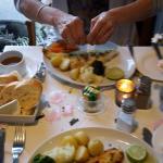 grilled sea bass & haddock