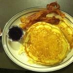 Pancakes and bacon?! Does it get any better?