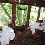White Oaks Dining overlooking the creek