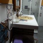 Baño de la habitación lila