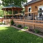 Relaxing deck and gazebo for outside dining