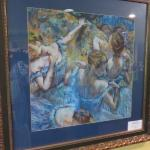 French impressionist paintings on display - Degas
