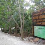 La entrada al parque