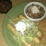 Chicken Flautas Lunch plate