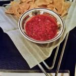 Complimentary salsa & chips.