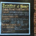 Nonna's Breakfast menu